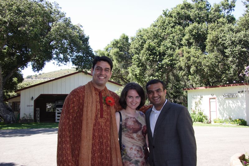 Anshul with former high school classmate Gitesh and his wife Victoria