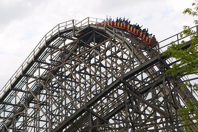 Gemini, a fun wooden twin rollercoaster