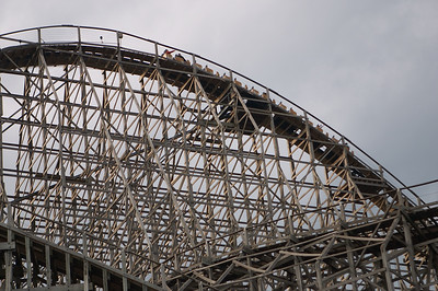 Wooden coasters are so much more intricately built than the newer metal ones