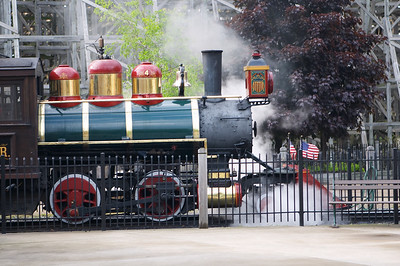 What appeared to be a real steam-powered train. Riding it made me nostalgic for an era I never lived through