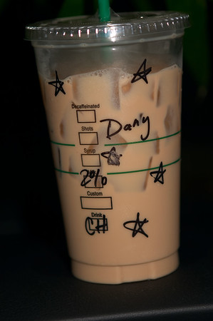 "Now I get stars from Starbucks Girl! (It's OK, she can call me ""Dany"" if she wants to)"