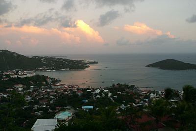 Sunset falls on Charlotte-Amalie