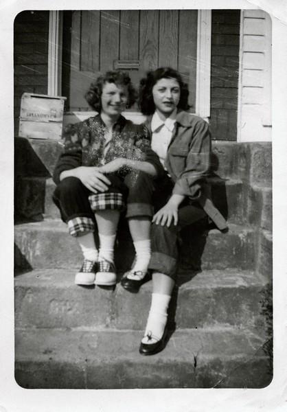 Rose O'Grady & Mom 1954