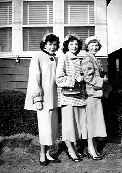 Easter Sunday 1954 - Nancy, Rose & Ginger