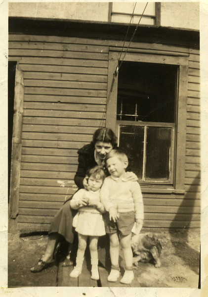 1938 Ruth Tobin Carr with Ginger & Bobby