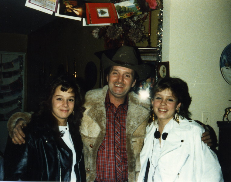 Jerry with his girls - Dianne & Sueanne