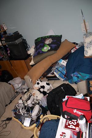 Bedroom becomes storage room