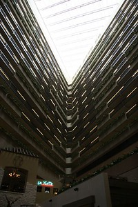 Inside the Hyatt Regency Hotel