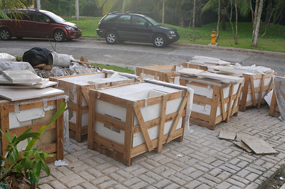 Lots of marble ready to be installed