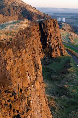The impressive crags
