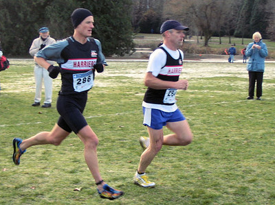 2005 Canadian XC Championships - Todd Healy and Richard Lee chase