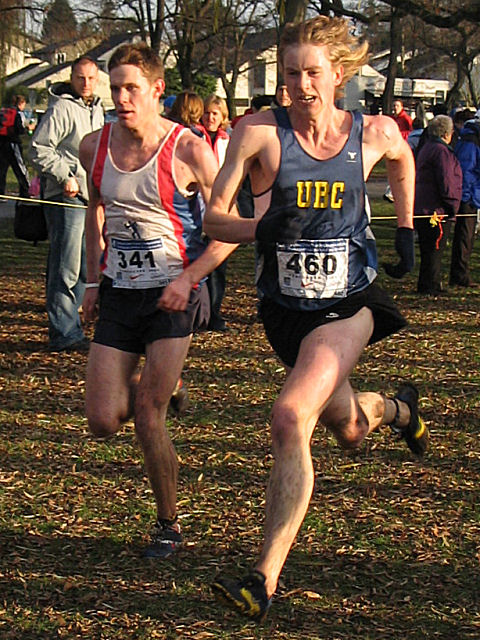 2005 Canadian XC Championships - Mike Thorson (32:02) and Shane Carlos (32:03), 27th and 28th