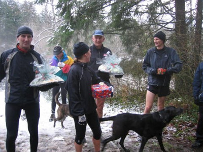 2005 New Year's Day Memorial Run - Claire Townsend got a special present for running four races in two days