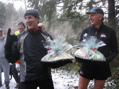 2005 New Year's Day Memorial Run - Bruce and Dan with their prizes