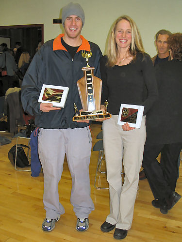 2005 PIH Awards Presentations - The two rookies of the year - Anthony Estey and Camie Bentham