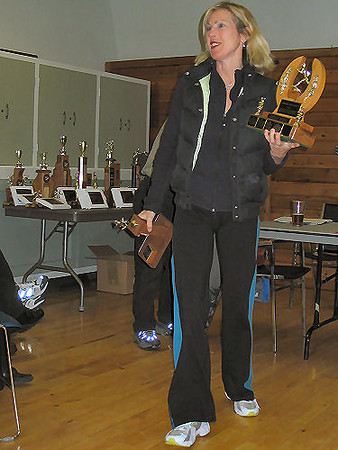2005 PIH Awards Presentations - Karen Lawless got two novelty awards, including one for bowling