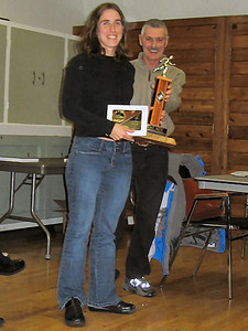 2005 PIH Awards Presentations - Susan Reid Most Consistent Harrier - Lindsay Pellow