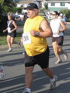 2005 Run Cowichan 10K - Bachop third after winning Gunner Shaw last weekend