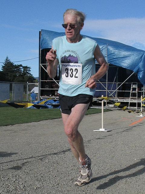 2005 Run Cowichan 10K - Nancy Tinari ran the senior race instead of the masters