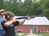 Skeet shooting at the rifle and pistol club.