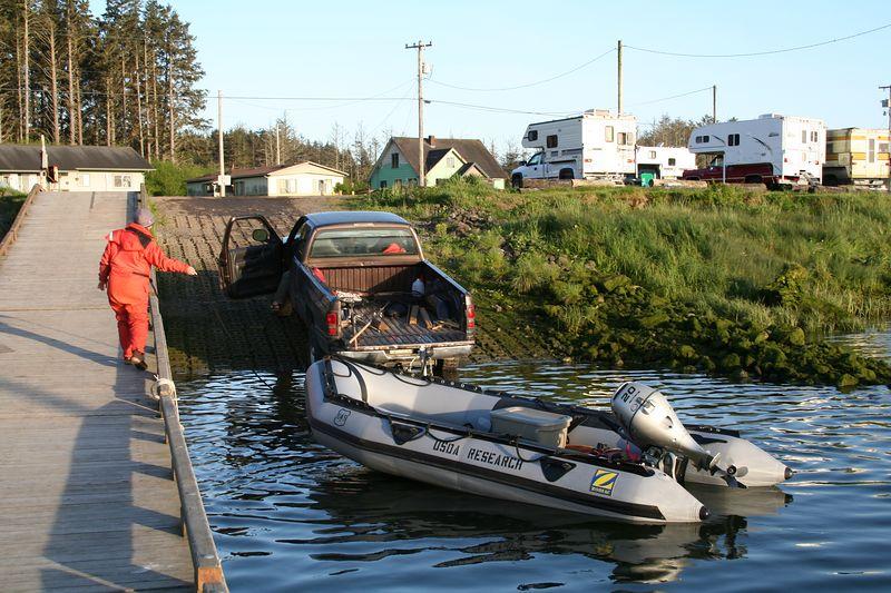 Loading the boat at La Push