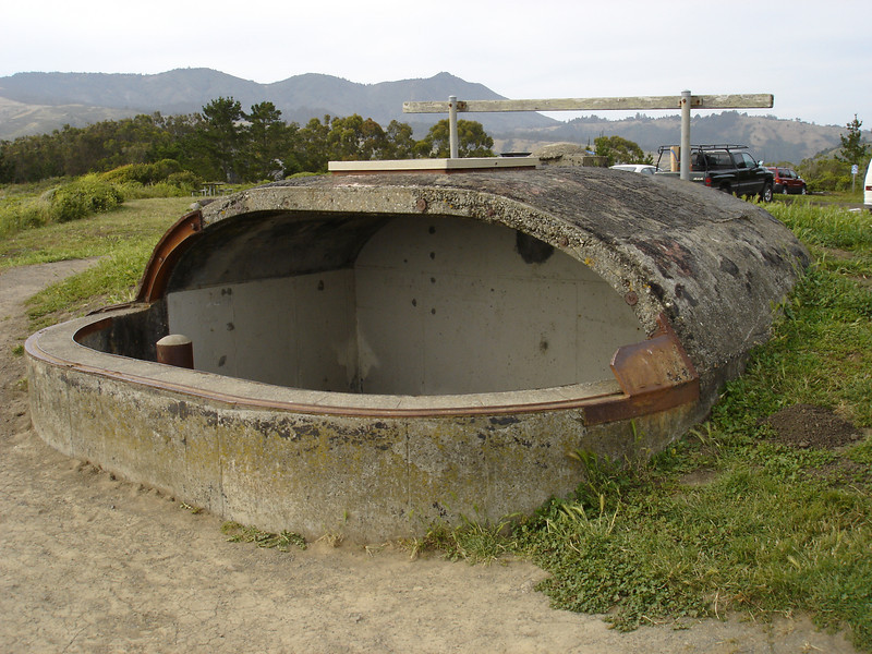 WW2 Artillery installment protecting the San Francisco Bay