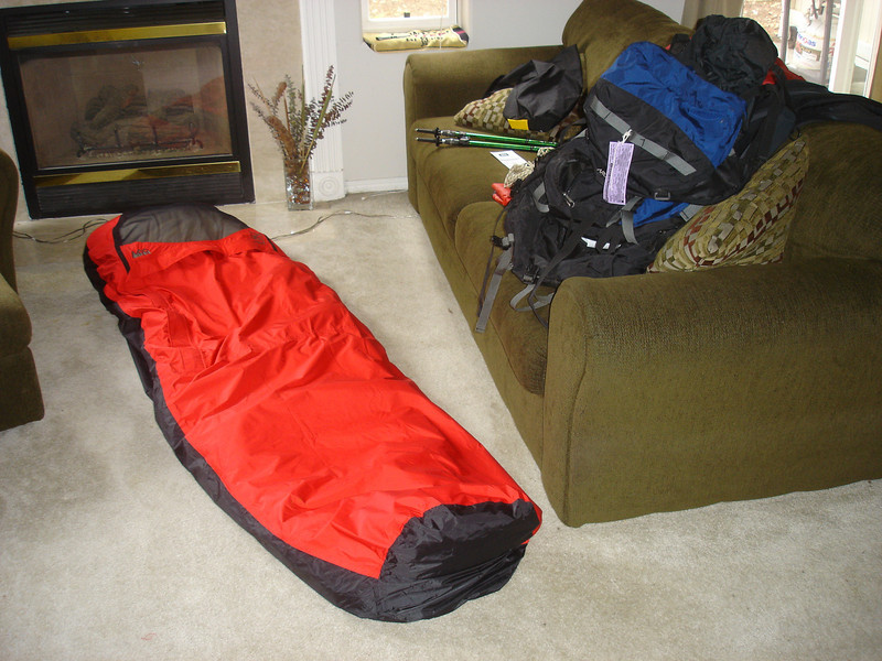 first trip using my new bivy sack instead of tent. maybe not the best of ideas.