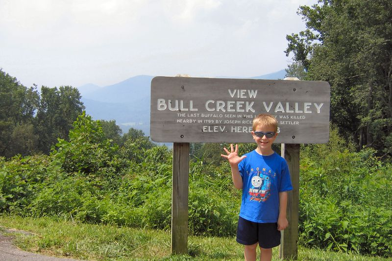 Anthony at Bull Creek Valley Overlook