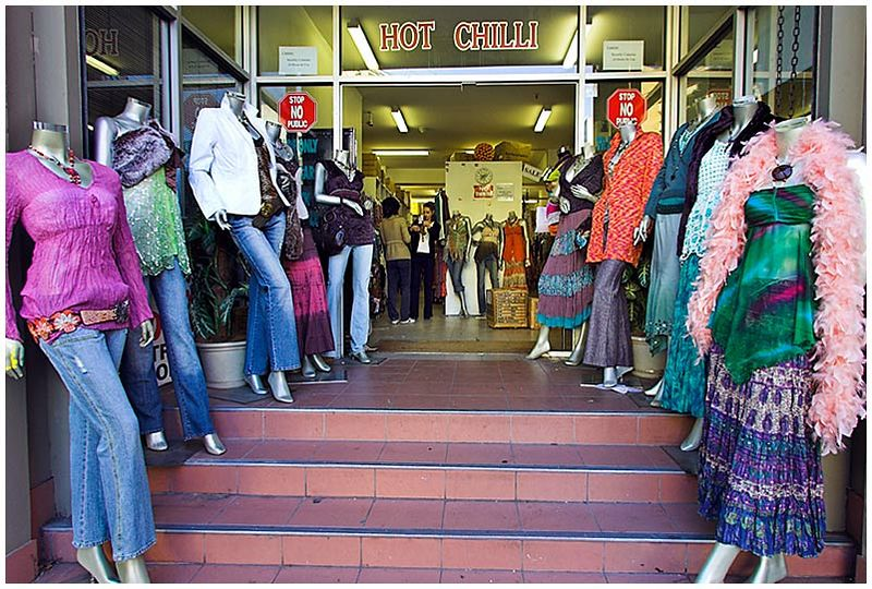 Kippax Street, Surry Hills, Thursday, August 11th 2005. <br /> <br /> In the rag trade area of Surry Hills there are many wholesale fashion outlets that don't allow public admittance. This one has a phalanx of shop dummies that appear to guard the entrance. <br /> <br /> EXIF DATA <br /> Canon 1D Mk II. EF 17-35mm @17mm f/2.8 1/50s f/5.6. Shutter Priority. ISO 250.