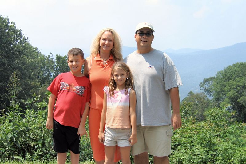 The Miklos's at Bull Creek Valley Overlook