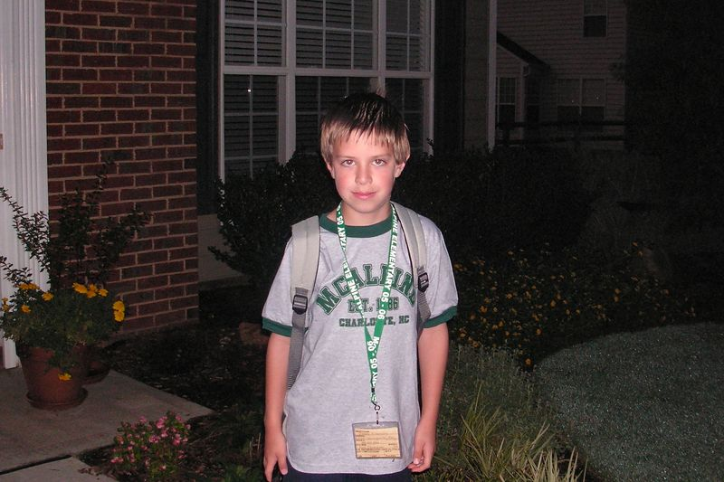 Jacob's first day of second grade.