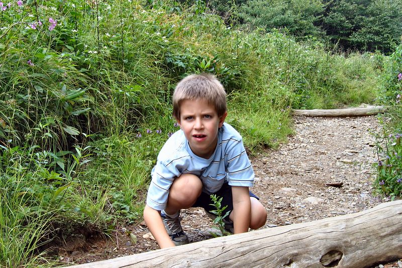 Jacob on the trail