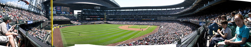 A panorama of the field.