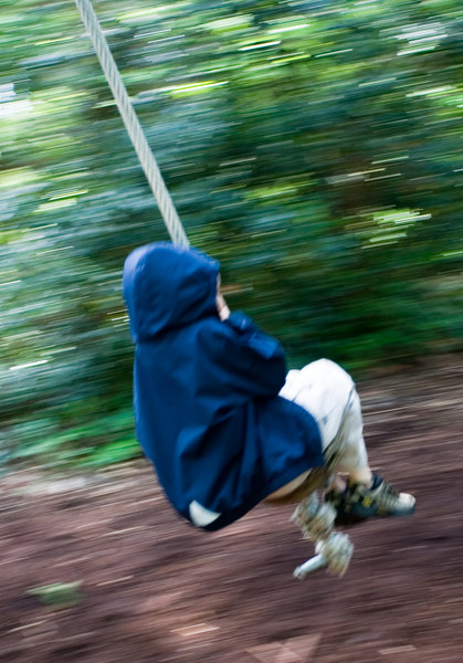 Benjamin on the rope swing.