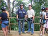 Roatan, Honduras -- Dustin and Brent getting ready to go zipping through the jungles on a canopy.