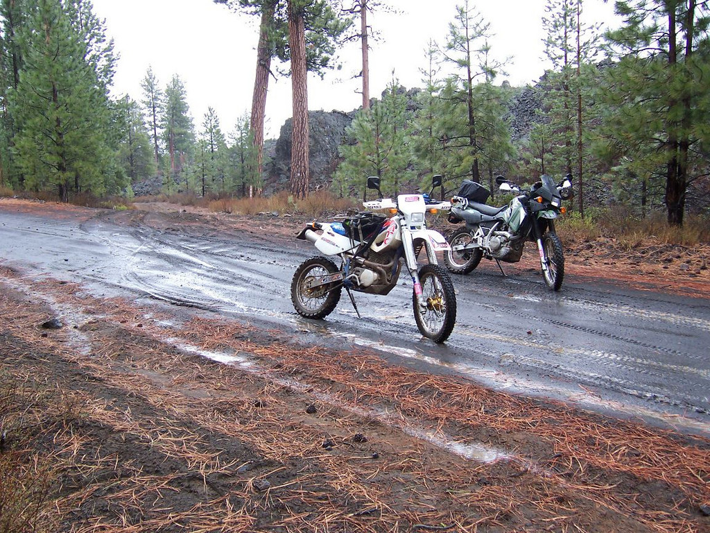 China Hat Dual Sport Route, We had rain, snow, and hail, got soaking wet...