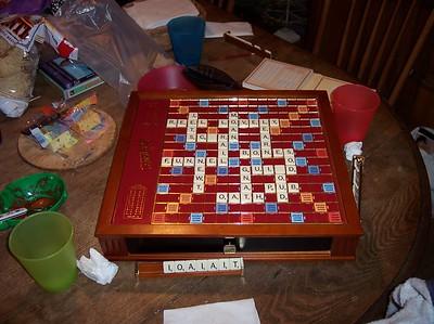 Scrabble pre-cake