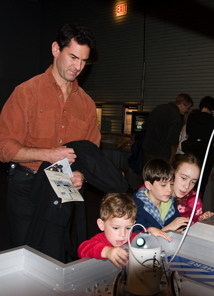 With Uncle Chip at the Science Museum.