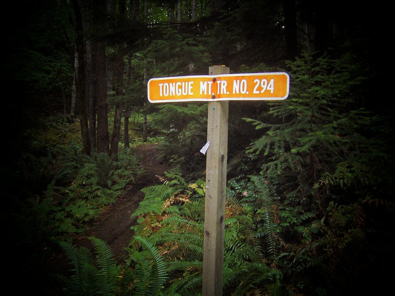Good looking sign. Don't let that fool you, the trail is really tough!