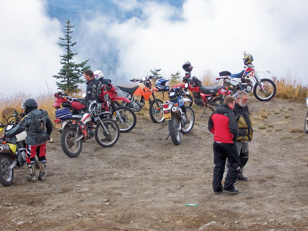 We had nine riders on Saturday's ride.