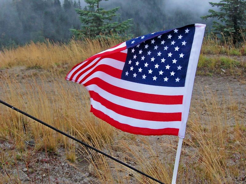 Old Glory on Burley Mt.