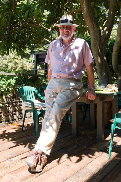Grandpa Edmund relaxing at home in Berkeley
