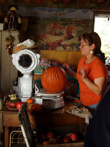 Weighing Our Pumpkins
