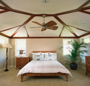 Contemporary Master Bedroom in Coastal Home