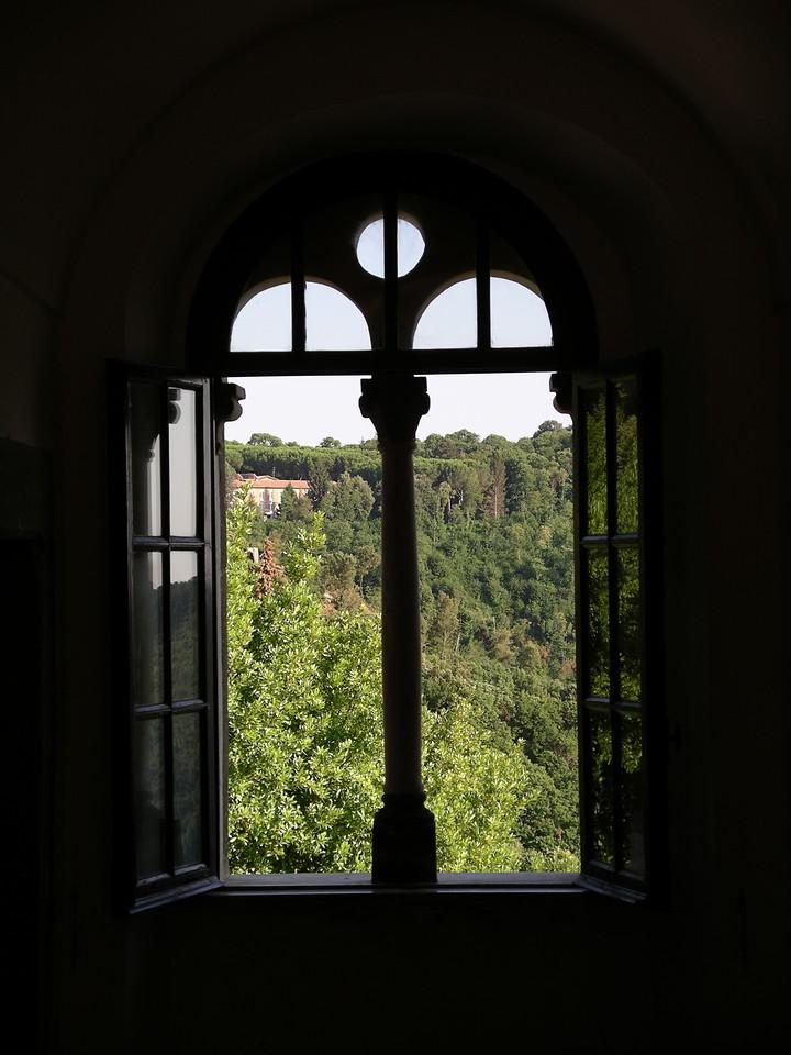 Top corridor—looking onto the hillside
