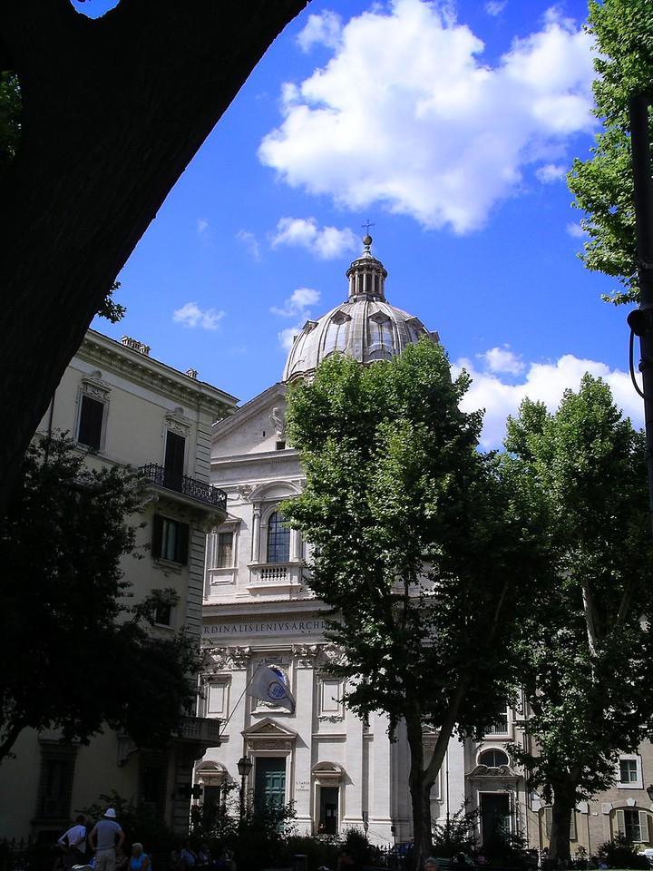 The church of S. Andrea della Valle