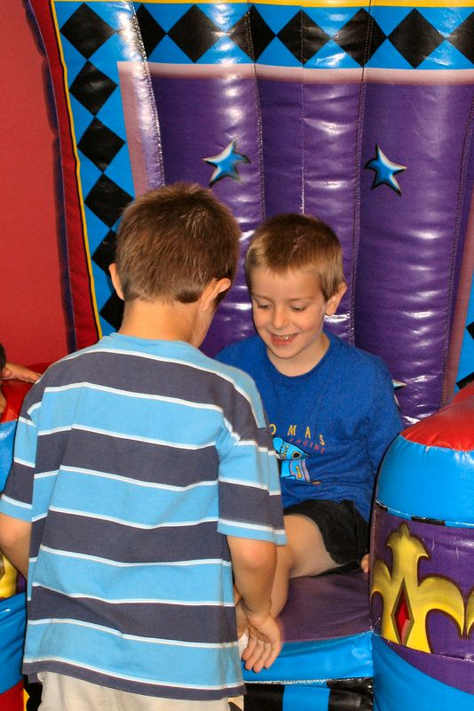 Jacob and Anthony at Anthony's 6th birthday party at Pump It Up