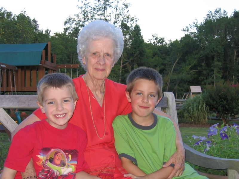 Grandma with the boys