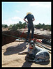 Slack steals the show yet again as Larry ties in to the Gemini Bridges highline, Moab, Utah.