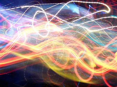 Neon Spectrum Swirl